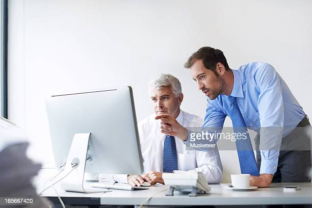 Two colleagues going over the strategy