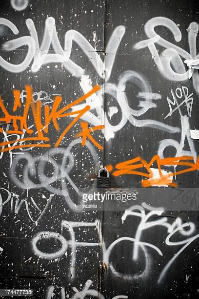 Zwei Farben graffiti