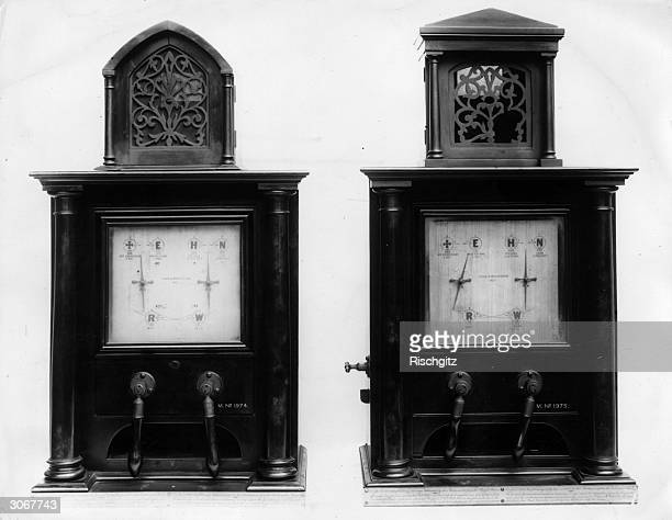 Two Cooke and Wheatstone telegraph machines which were used on the line between Paddington and Slough