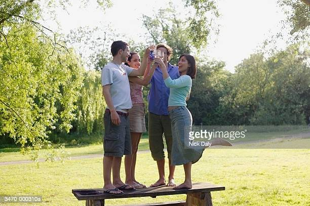 Two Couples on Picnic Table