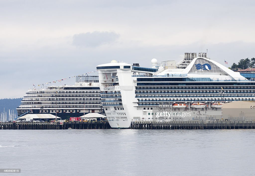 Two Cruise Ships : Stock Photo