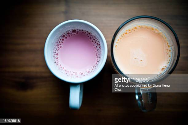 Two Cups of Coloured Milk.