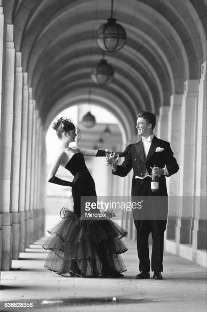 Two darlings of the deb set offer a toast to fashion as they prepared for a night of ballgowns and bubbly at the Charity Berkeley Dress Show Victoria...