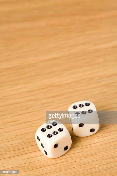 Two dice, pair of sixes