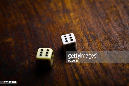 Two dice : Stock Photo
