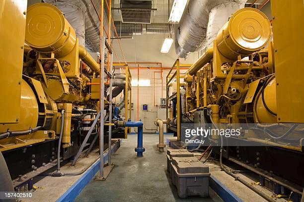 Deux dans le centre industriel de générateurs Diesel