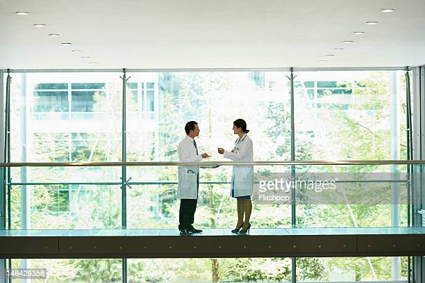 Two doctors having an informal meeting