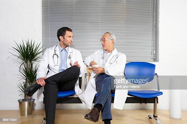 Two doctors in waiting room