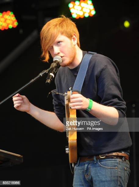Two Door Cinema Club perform on stage during the St Patricks's Day celebrations in Trafalgar Square central London