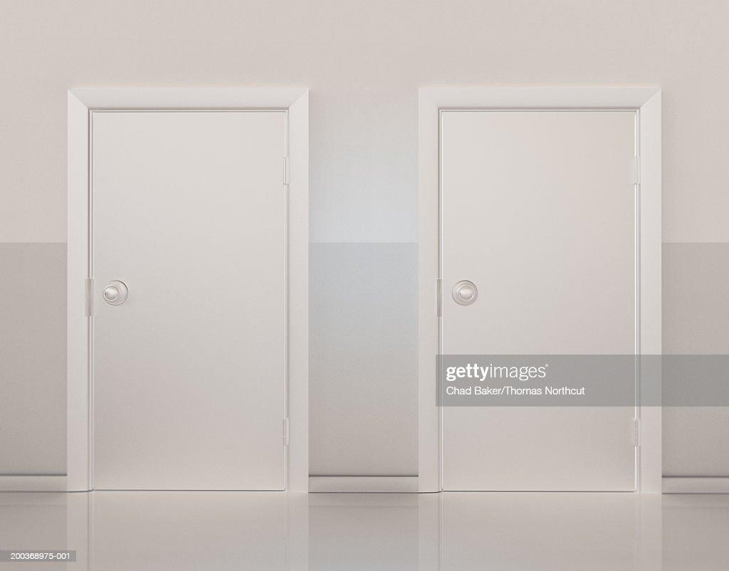 Two doors side by side (Digital) : Stock Photo