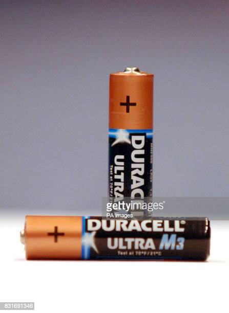 Two Duracell AAA batteries pictured after Duracell has been named the least ethical battery brand in a report released Thursday March 30 2006 Ethical...