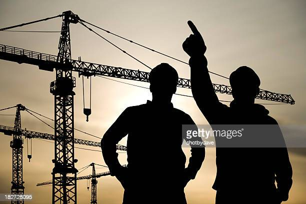 Two Engineers at a Building Site