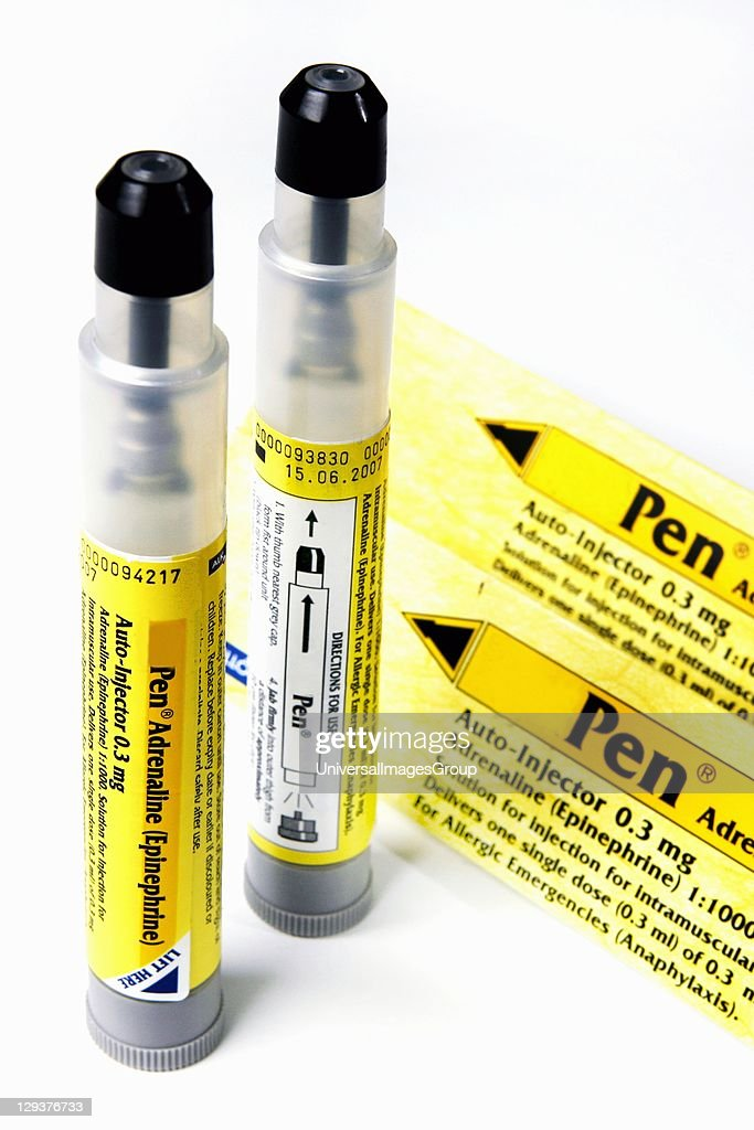 Two EpiPens most commonly used autoinjector of adrenaline for treating anaphylactic shock They are commonly carried by persons with severe allergies...