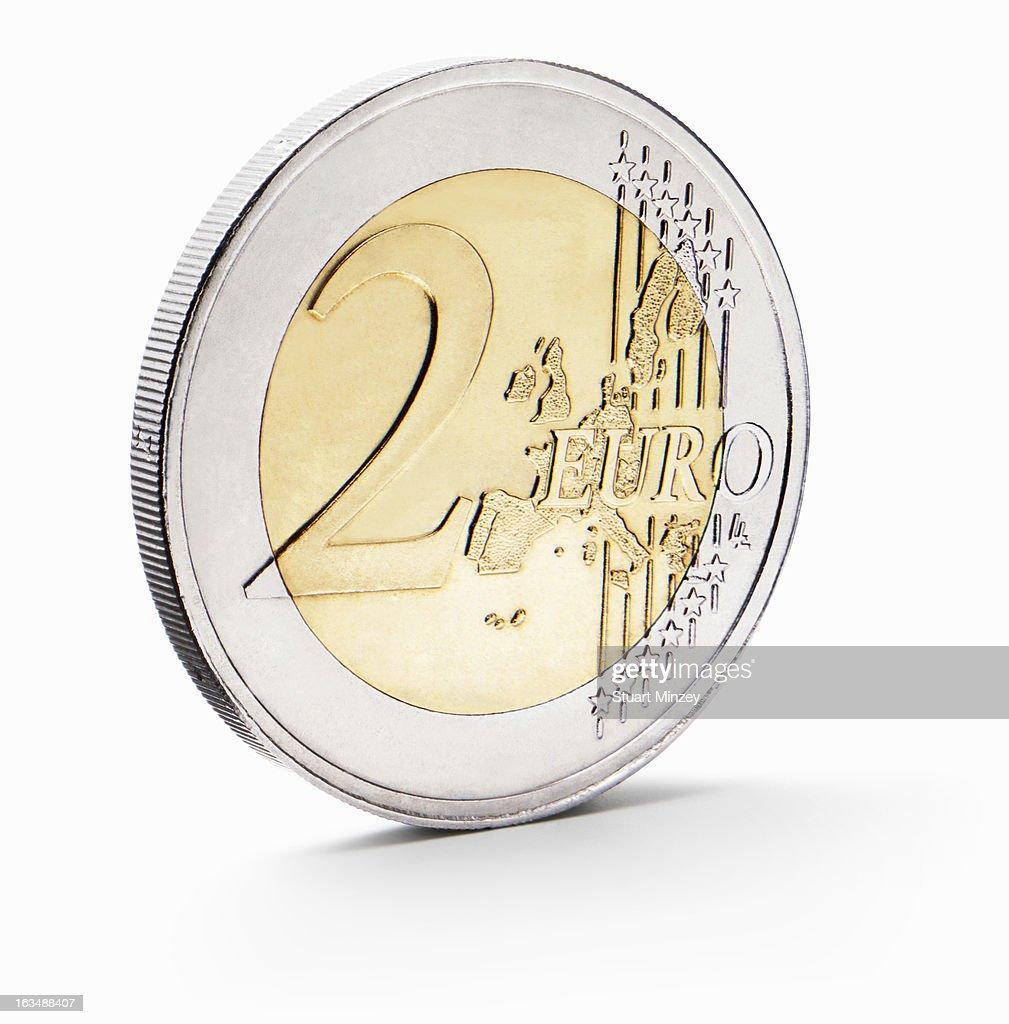 Two euro coin : Stock Photo