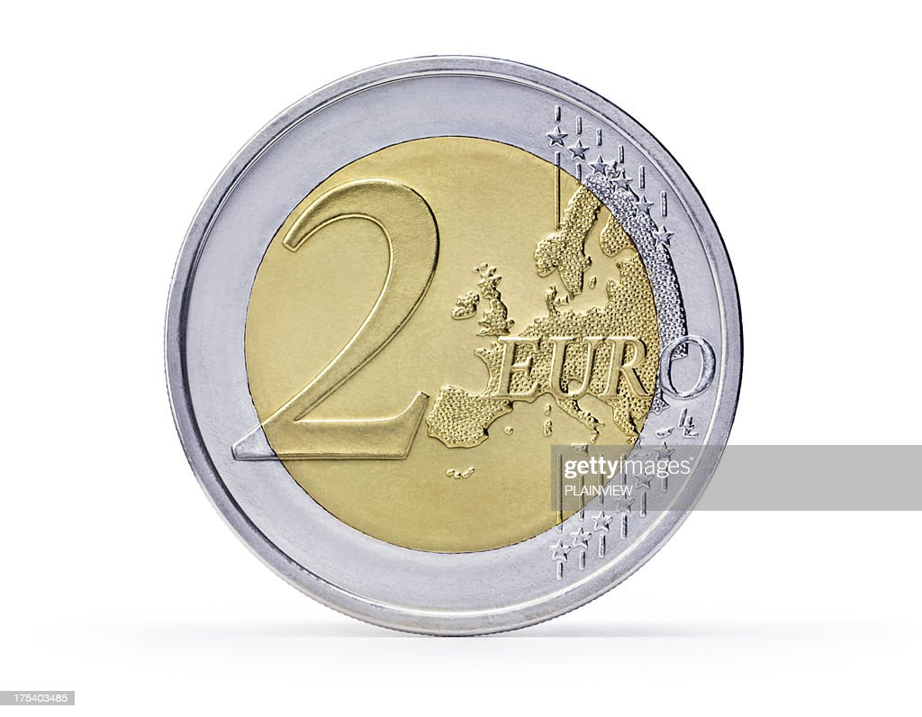 Two Euro coin (+clipping path)