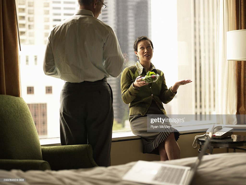 a conversation in hotel Receptionist: good morning, madam can i help you mrs anderson: good morning do you have a single room with a bathroom, please receptionist: yes, i do have a.