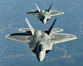 Two F-15's in flight