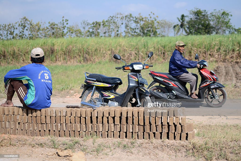 Two farmers in a sugar cane field converted into a brick factory in Silir. Many farmers in Indonesia have had to convert agricultural land because it is no longer profitable. Consequently Indonesian agricultural production has declined. Although Indonesia is an agricultural country, it still has to rely heavily on imported food staples such as rice, sugar, soybeans and corn. The Central Statistics Agency (BPS) announced that the number of farming households in Indonesia has decreased by 5.04 million families in the past 10 years. The 2003 Census of Agriculture claimed 31.17 million farm households. But in 2013 the number had fallen to 26.13 million. Indonesia has been listed as the world's largest sugar exporter. In 1930, when Indonesia was still called the Dutch East Indies, some 179 sugar factories produced over 3 million tons of sugar each year. Currently there are only 62 sugar factory in Indonesia..