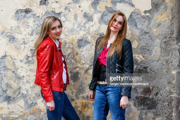 Two fashionable mid adult women in Mexico City