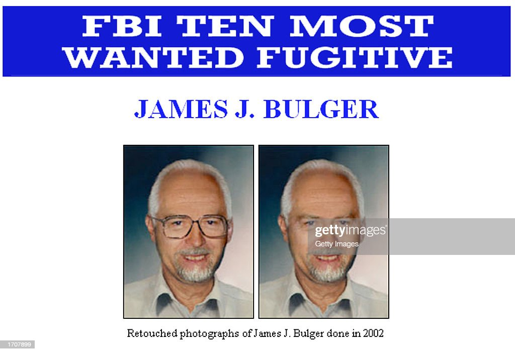 Two Federal Bureau of Investigation artist composite images of fugitive James 'Whitey' Bulger are shown in this handout photo released by the FBI...