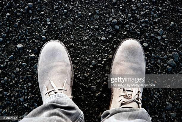 Two Feet on Gravel