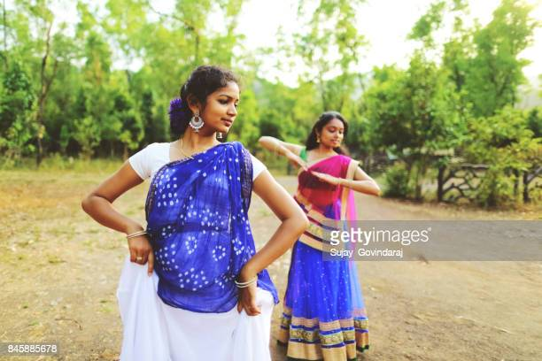 Two Female Dancers Performing Kathak