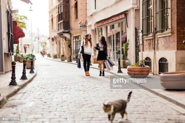Two Female Friends Shopping in Istanbul