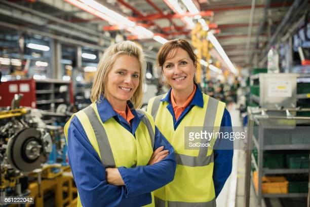 Two Female Production Line Workers