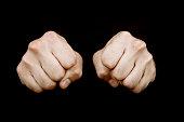 Fists facing camera