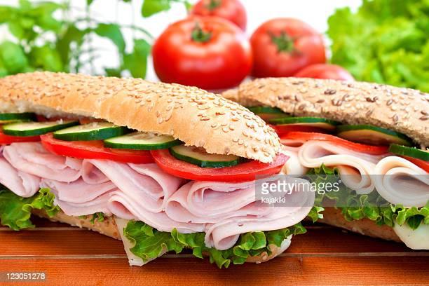 Two fresh Sandwiches
