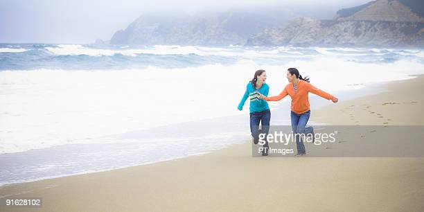 Two girl friends at the beach