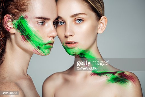 Two girl with fantasy makeup