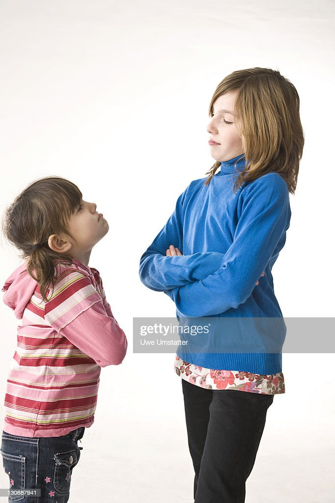 Two girls arguing : Stock Photo