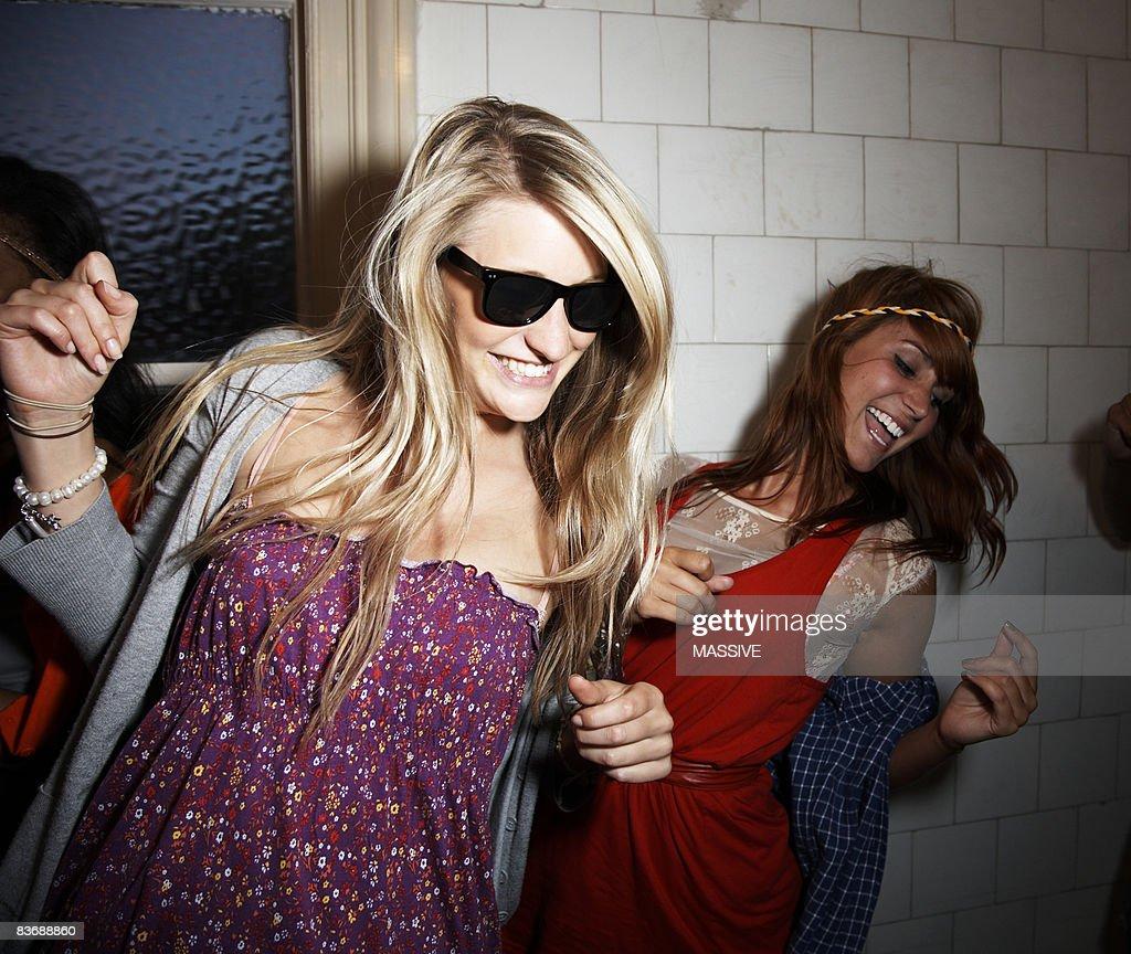 Two girls dancing : Stock Photo