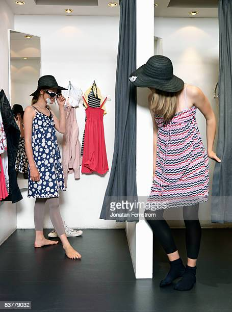 Two girls in dressing room