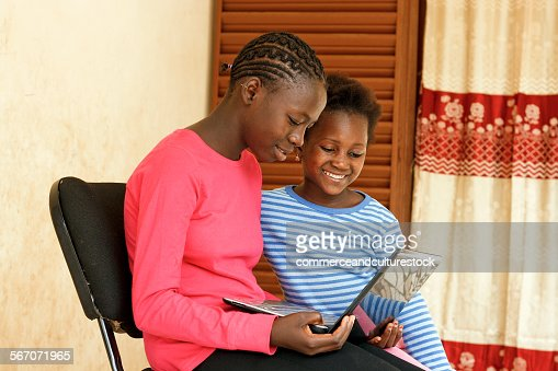 Two girls with a laptop