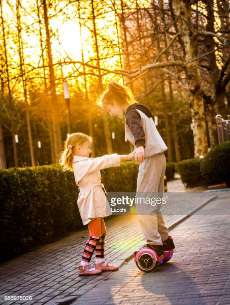 Two girls with Segway