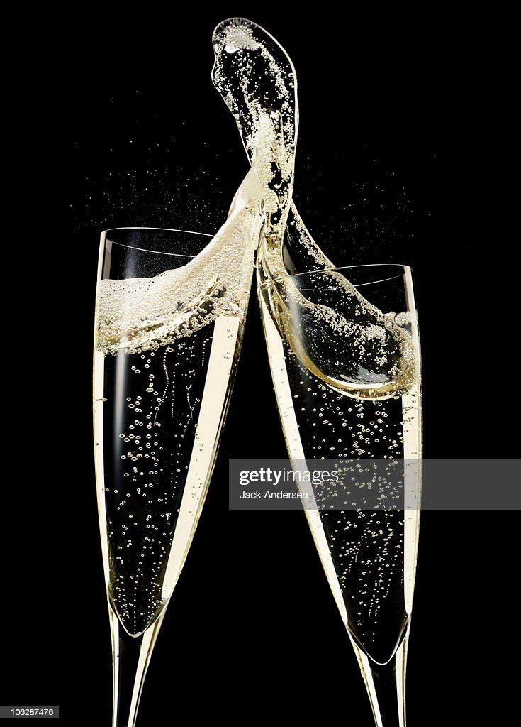 Two Glasses of Champagne : Stock Photo