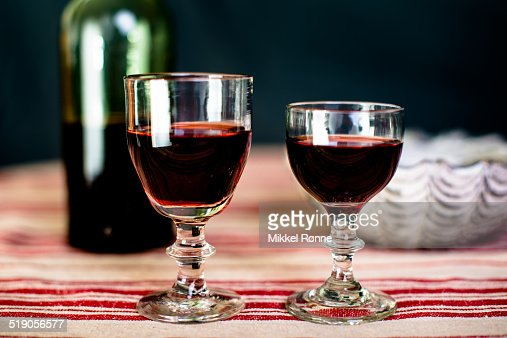 Two glasses of liquor