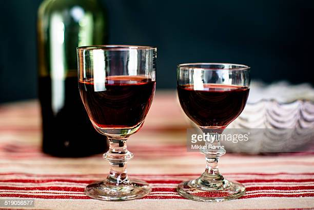 Two glasses of liquor