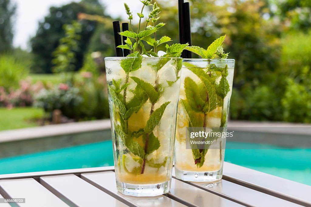 Two glasses of Mojito