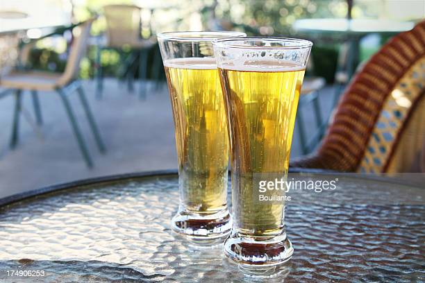 Two glasses of refreshing beer