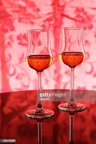 Deux verres avec amaretto