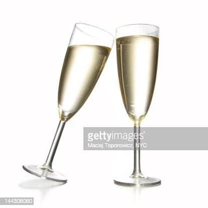 Two glasses with champagne.