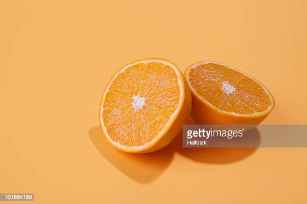 Two halves of an orange