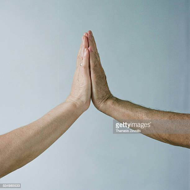 Two hands praying together