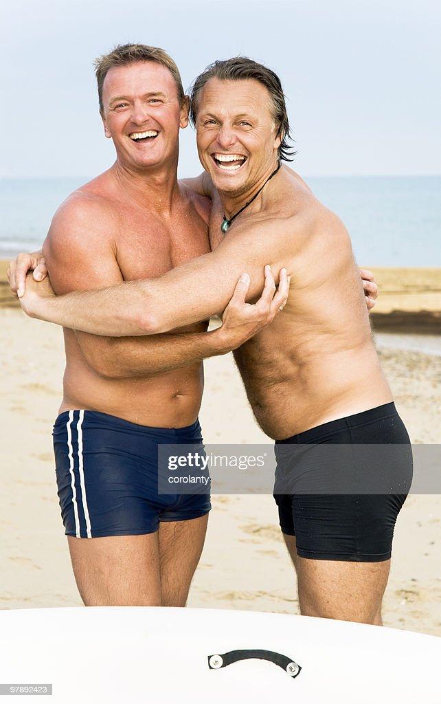 Gay man happy