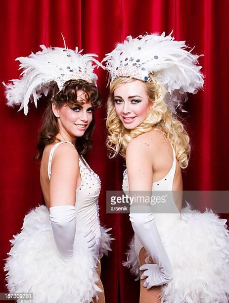 Two happy showgirls