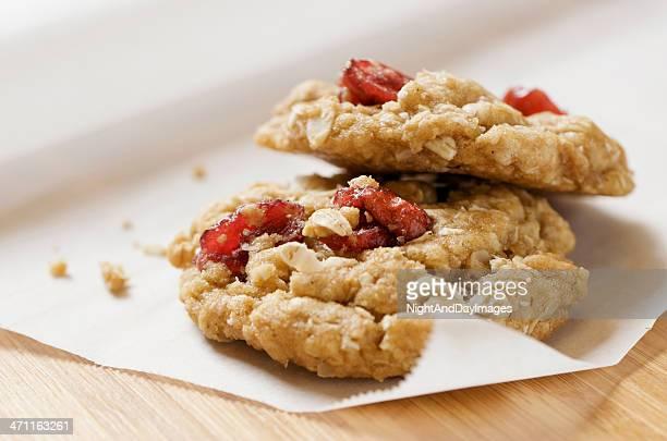Dos saludable galletas de avena de arándano XXL