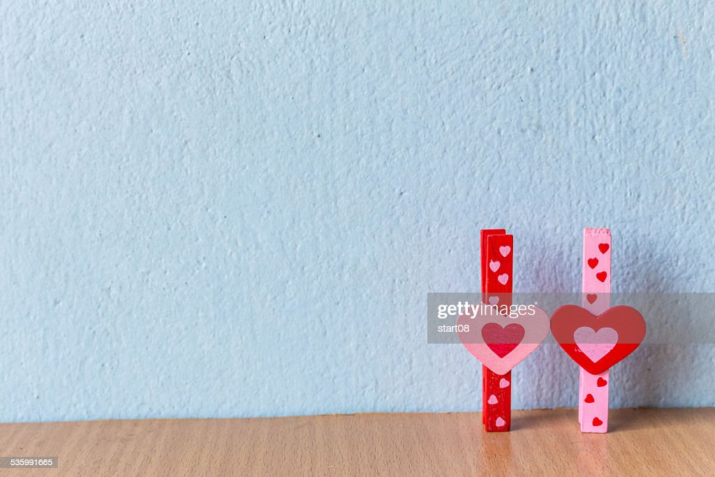 Two Heart Symbol Stock Photo Getty Images